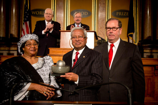 Sir Fazle Hasan Abed receives World Food Prize