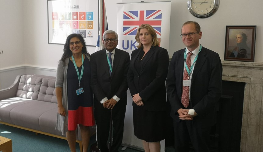 Sir Fazle Hasan Abed meets the UK Secretary of State for International Development